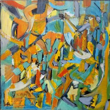 Peinture, acrylique, abstrait, œuvre d'art par Rosie Longhi-De Bouard